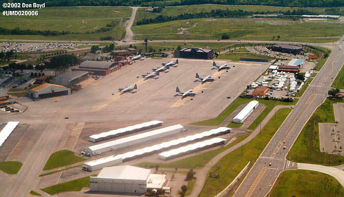 118th Airlift Wing (Tennessee Air National Guard) base and C-130s military aviation stock photo