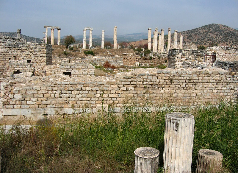 Whats left of The Temple of <br>Aphrodite across the way