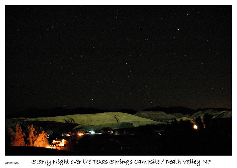 Starry Nite over the campsite