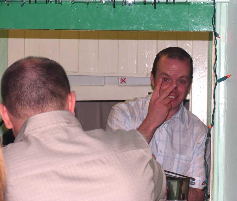 Gordy the friendly Barman