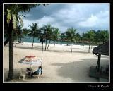 imported beach at Sentosa
