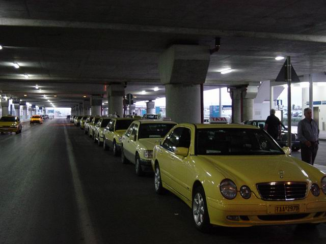 ...and the taxis line up still!