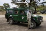 Adam and our Rover in Tanzania