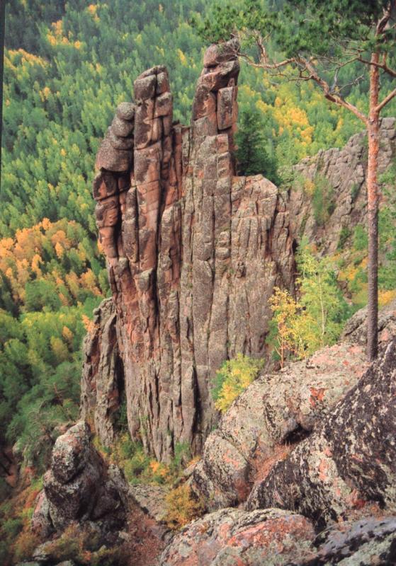 National park Stolby (Krasnoyarsk, Russia)