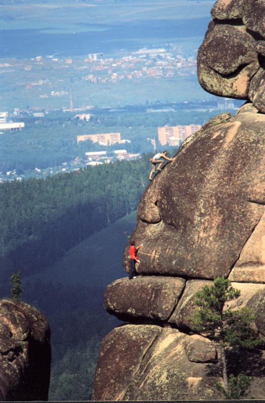 Free-solo rock climbers