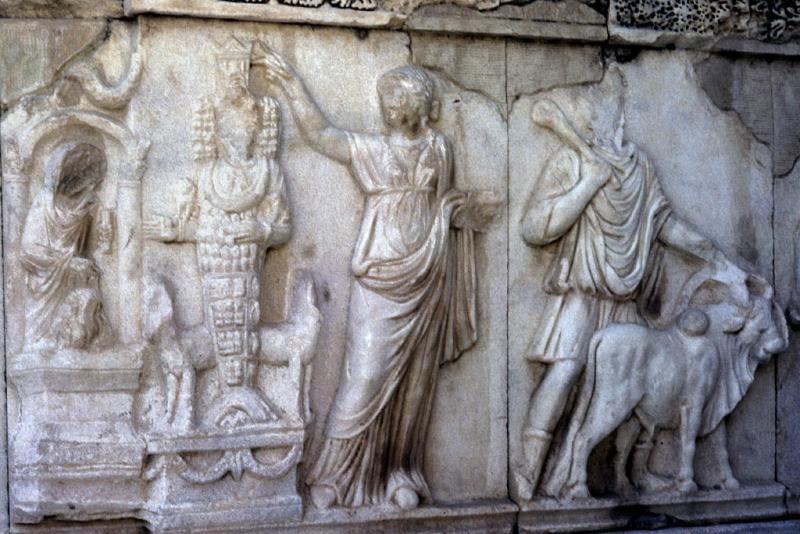 Hierapolis detail in theatre Artemis