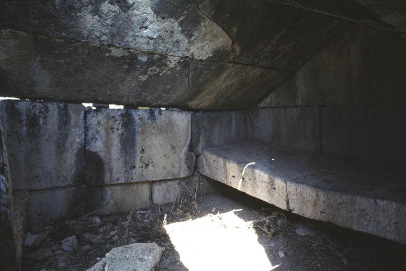 Hierapolis necropolis inside grave