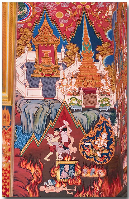 Wat Hua Lampng - graphic on inside temple wall 3