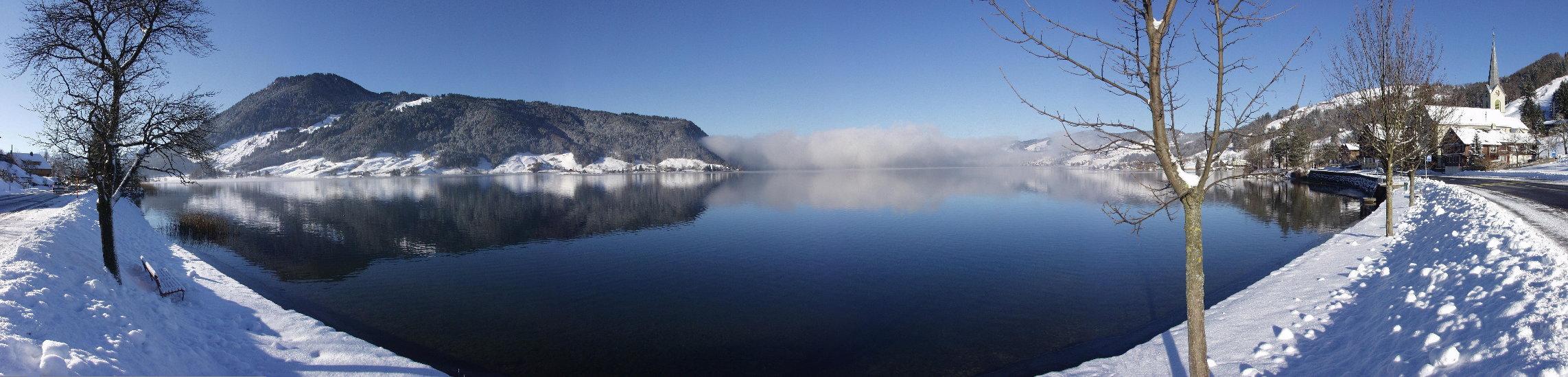 Lake Aegeri at the new-year 2002