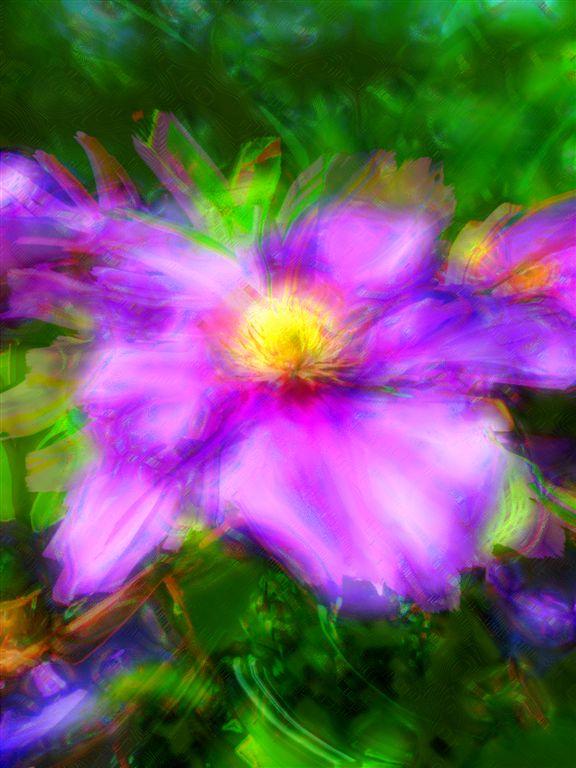 Lila Flower in Acrylic Paint