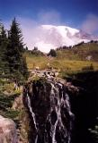 Rainier and Falls (Scanned Print)