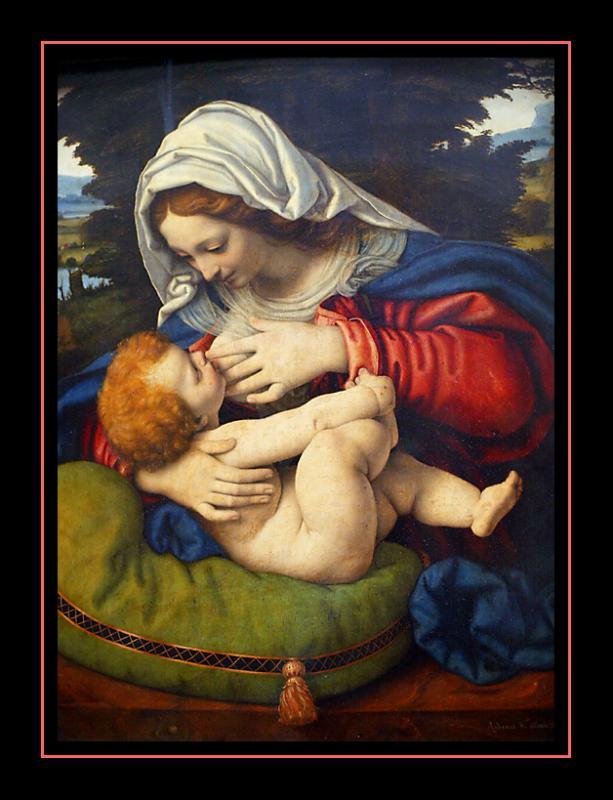 La Vierge au Coussin vert (1500) par ANDREA SOLARIO