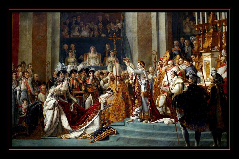 Le Sacre de Napoleon 1er (1805) par Jacques Louis DAVID