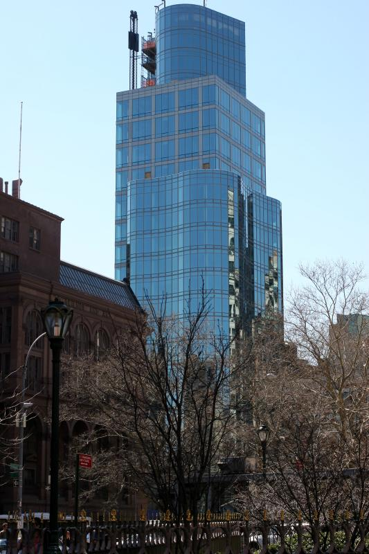 Cooper Union School &  Astor Place - View from E 9th Street  &  3rd Avenue