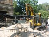 Street Construction at Thompson Street & Washington Square South