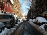 Thompson Street at Bleecker Street after the Snowfall