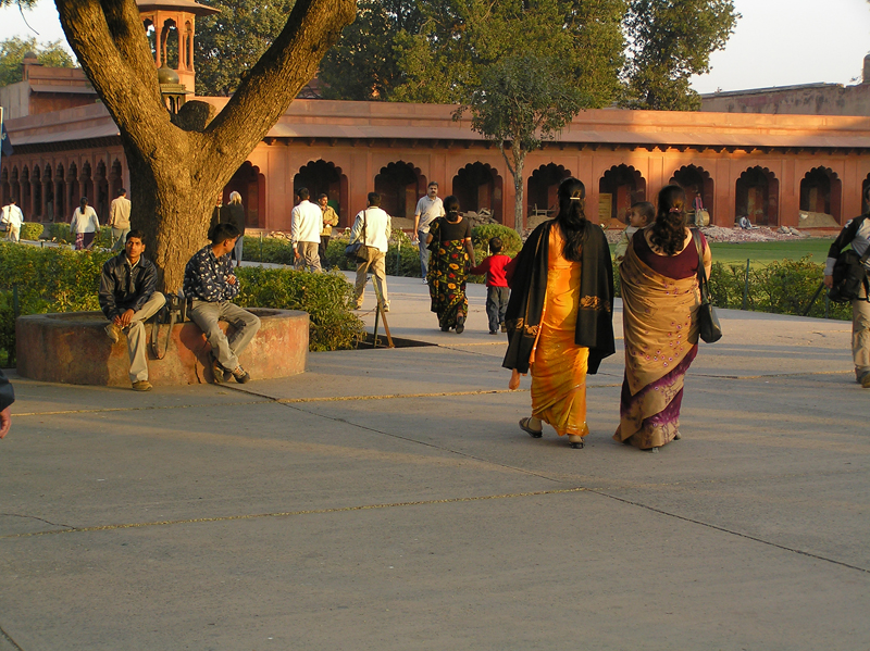 Leaving the Taj