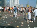 What was left after the parade had passed