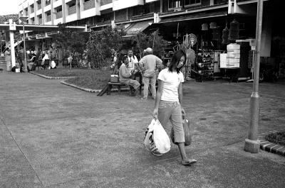 Girl with Groceries
