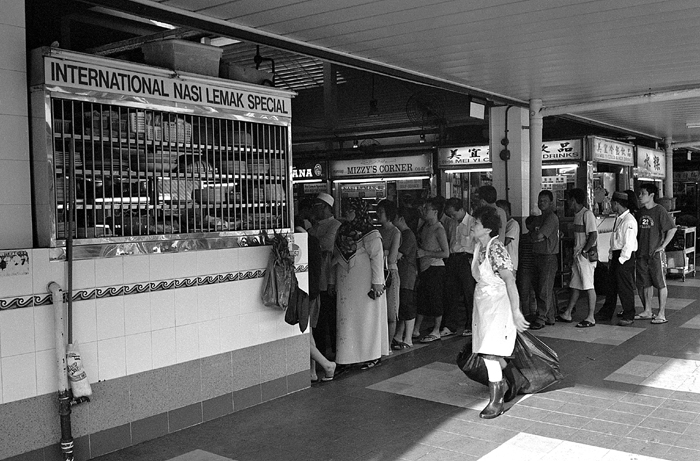 Long Queue at Food Stall