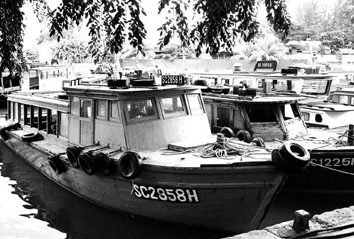Bum Boats at Changi Creek