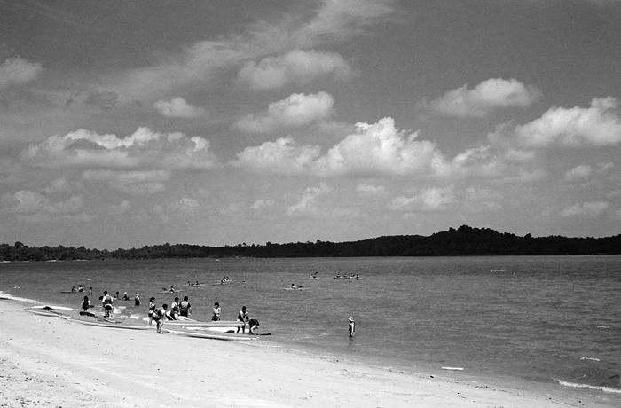 Kayakers at Changi Beach