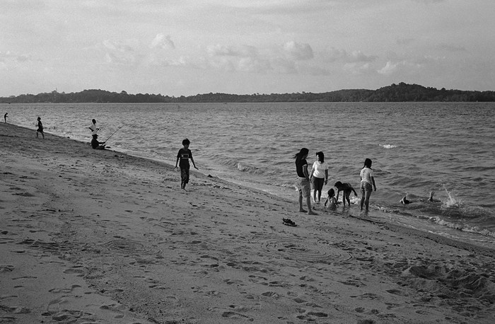 Family at Changi Beach