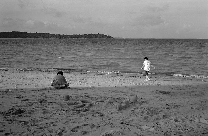 Children at Changi Beach