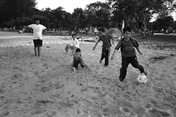 Children Playing Soccer II