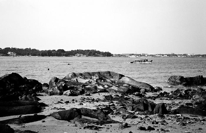 Bum Boat Approaching Pulau Ubin