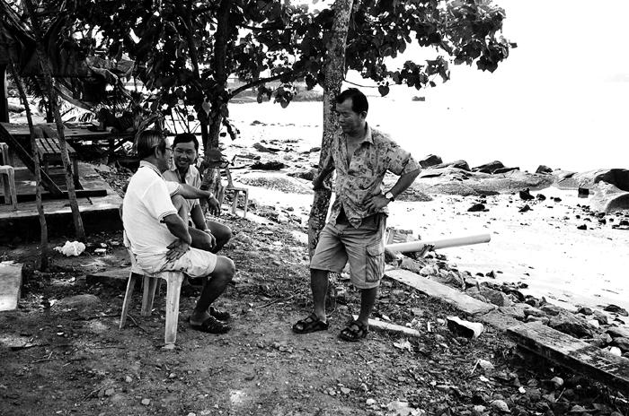 Islanders Relaxing at the Beach