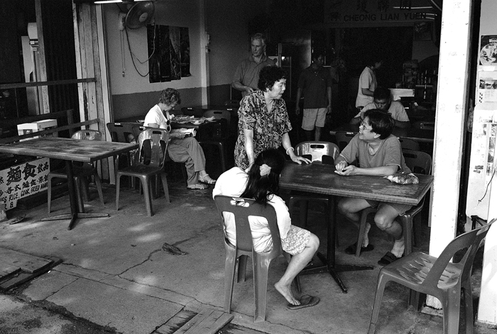 Scene of a Pulau Ubin Eating Stall
