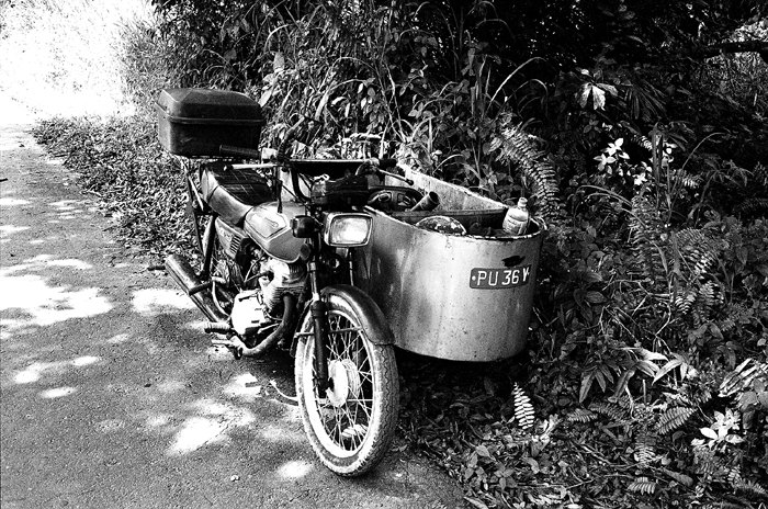 Old Motorcycle with Sidecar