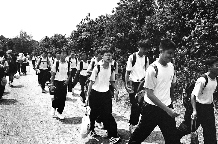 Police Cadets Marching to Camp
