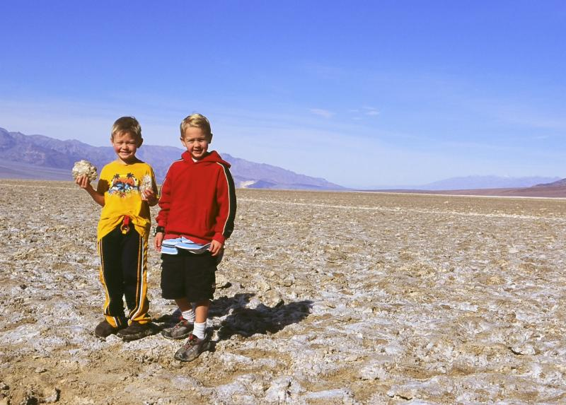 Phillip and Edward at Badwater with salt