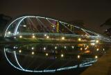 Lit Bridge along Singapore River