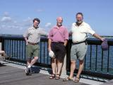 Paul,  Ken and me in Charleston  with Mount Pleasant seen across harbor