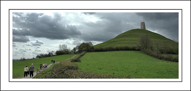 Start of the long climb up Glastonbury Tor, Glastonbury, Somerset