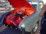 black & white Studebaker in a color world