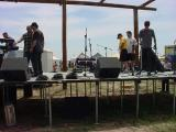 setting up on stage