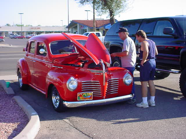1940 Plymouth and <br>Gary and Dave Bell