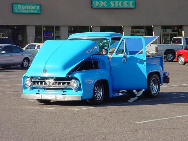 blue Ford pickup