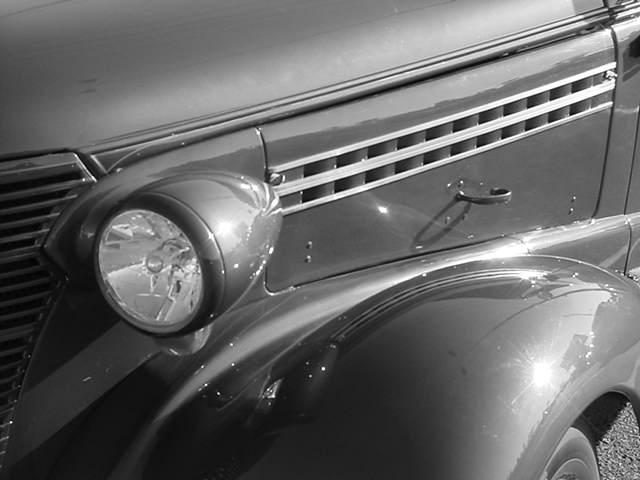 black & white 38 Chevy