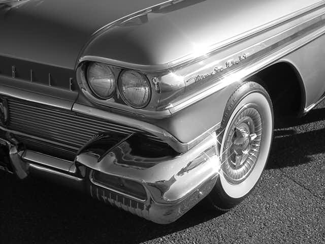 beautiful oldsmobile <br> in black and white