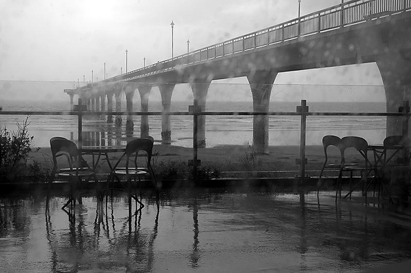 Christchurch Pier in the Rain