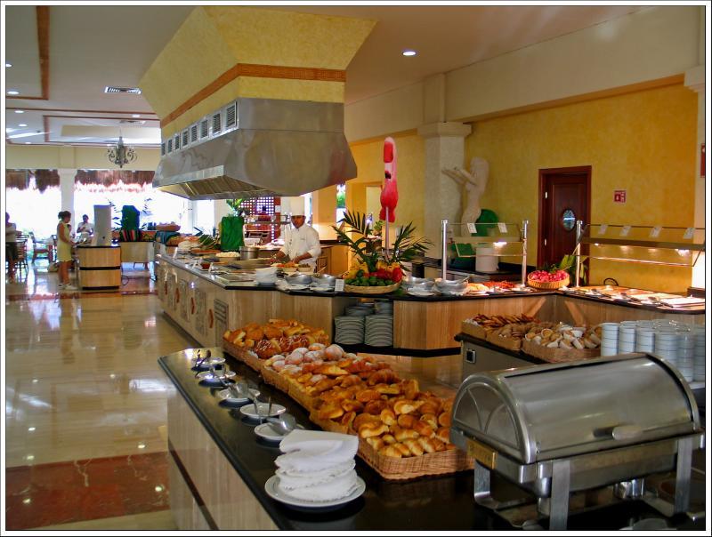 The Breakfast Buffet Area