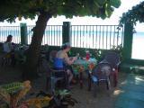 Breakfast at Villa Amarilla on the beach juice, tea, toast, fruit, omelet, bacon    ¢ 2550