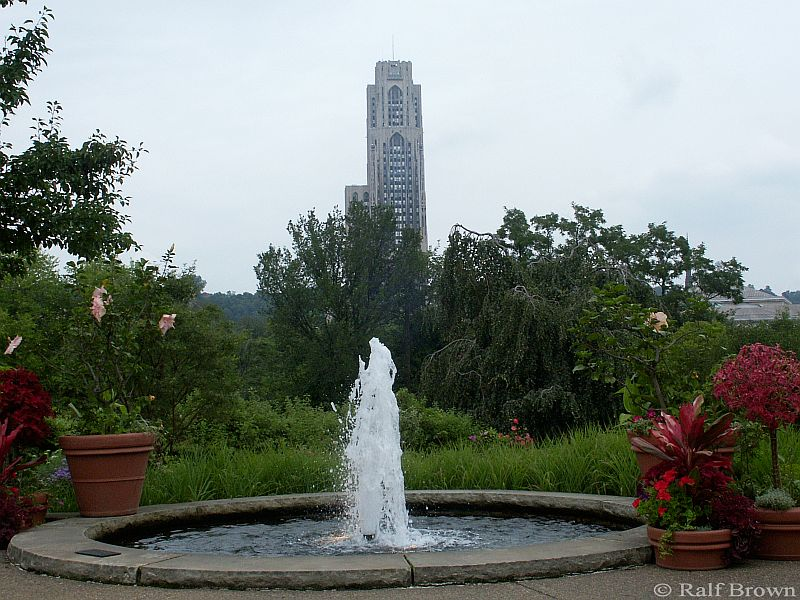 Cathedral of Learning from the Phipps public garden
