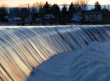 Water flowing at the Chambly Dam; 1 hour South-West of Montreal.