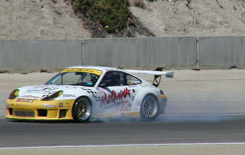 Porsche slides into Andretti hairpin